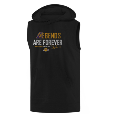 L.A. Lakers Kobe Bryant Legends Are Forever Hoodie (Sleeveless )