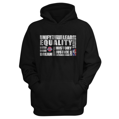 EQUALITY Detroit Pistons Hoodie