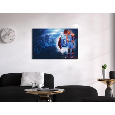 Russel Westbrook Canvas Tablo