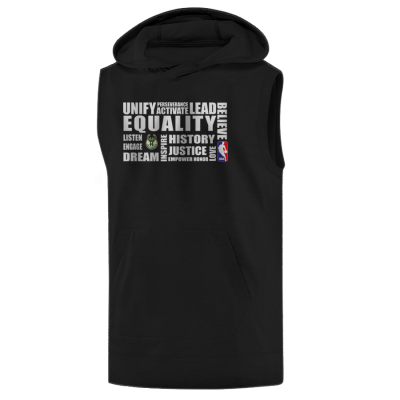 EQUALITY Milwaukee Bucks Hoodie ( Sleeveless )